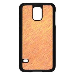 Orange pattern Samsung Galaxy S5 Case (Black)