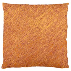 Orange pattern Large Flano Cushion Case (One Side)