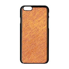 Orange pattern Apple iPhone 6/6S Black Enamel Case