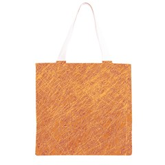 Orange pattern Grocery Light Tote Bag