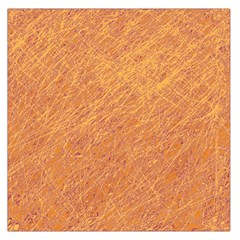Orange pattern Large Satin Scarf (Square)