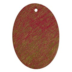 Brown pattern Ornament (Oval)