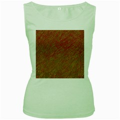 Brown Pattern Women s Green Tank Top