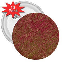 Brown pattern 3  Buttons (10 pack)