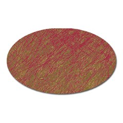 Brown Pattern Oval Magnet