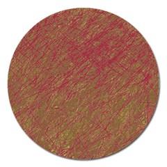Brown pattern Magnet 5  (Round)
