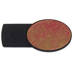 Brown pattern USB Flash Drive Oval (1 GB)