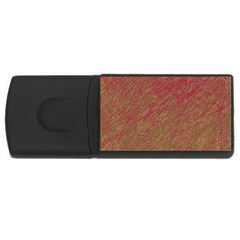 Brown pattern USB Flash Drive Rectangular (1 GB)