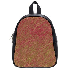 Brown pattern School Bags (Small)