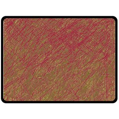 Brown pattern Fleece Blanket (Large)
