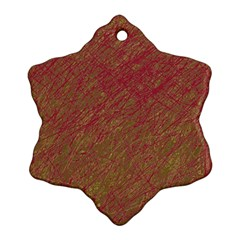 Brown pattern Snowflake Ornament (2-Side)