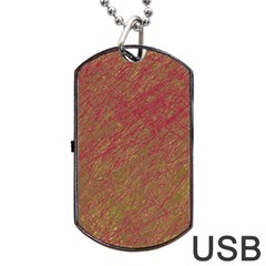 Brown pattern Dog Tag USB Flash (Two Sides)