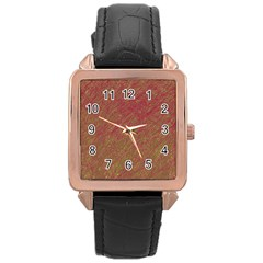 Brown pattern Rose Gold Leather Watch