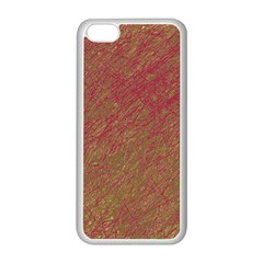 Brown pattern Apple iPhone 5C Seamless Case (White)
