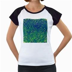 Green pattern Women s Cap Sleeve T