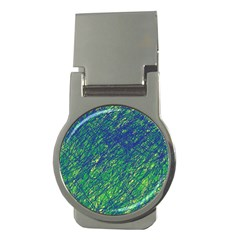 Green pattern Money Clips (Round)