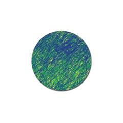 Green pattern Golf Ball Marker (4 pack)