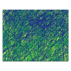 Green pattern Rectangular Jigsaw Puzzl