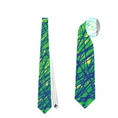 Green pattern Neckties (One Side)
