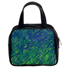 Green pattern Classic Handbags (2 Sides)