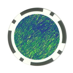 Green pattern Poker Chip Card Guards (10 pack)