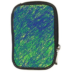 Green pattern Compact Camera Cases