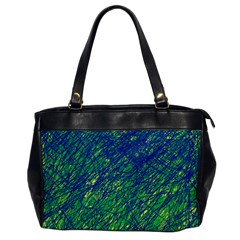 Green pattern Office Handbags