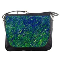 Green pattern Messenger Bags