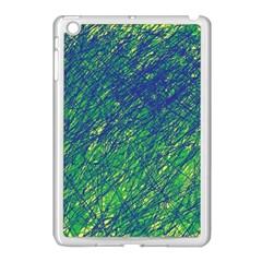 Green pattern Apple iPad Mini Case (White)