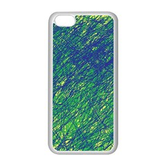 Green pattern Apple iPhone 5C Seamless Case (White)