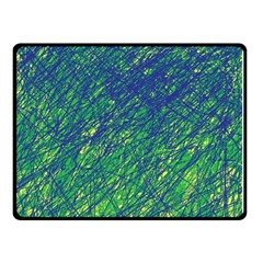 Green pattern Double Sided Fleece Blanket (Small)