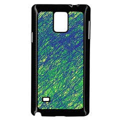 Green pattern Samsung Galaxy Note 4 Case (Black)