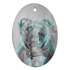 dog Oval Ornament