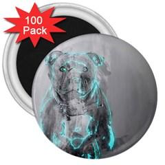 Dog 3  Magnets (100 pack)