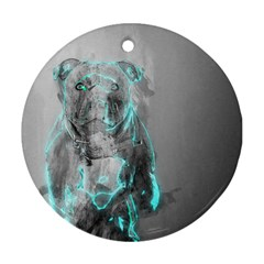 Dog Round Ornament (Two Sides)