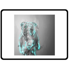 Dog Double Sided Fleece Blanket (Large)