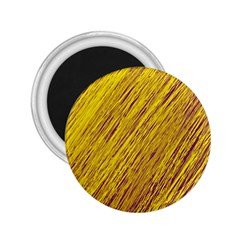 Yellow Van Gogh pattern 2.25  Magnets