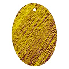 Yellow Van Gogh pattern Ornament (Oval)