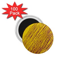 Yellow Van Gogh pattern 1.75  Magnets (100 pack)