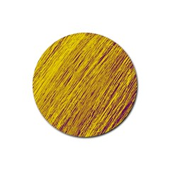Yellow Van Gogh pattern Rubber Coaster (Round)