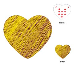Yellow Van Gogh pattern Playing Cards (Heart)