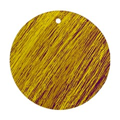 Yellow Van Gogh pattern Round Ornament (Two Sides)