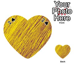 Yellow Van Gogh pattern Playing Cards 54 (Heart)