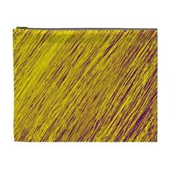 Yellow Van Gogh pattern Cosmetic Bag (XL)