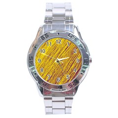 Yellow Van Gogh pattern Stainless Steel Analogue Watch