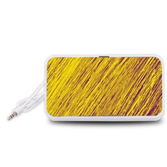 Yellow Van Gogh pattern Portable Speaker (White)