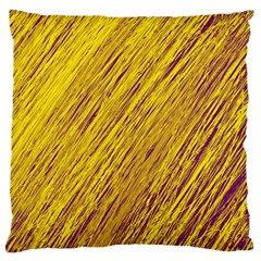 Yellow Van Gogh pattern Large Cushion Case (Two Sides)