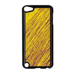 Yellow Van Gogh pattern Apple iPod Touch 5 Case (Black)