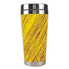 Yellow Van Gogh pattern Stainless Steel Travel Tumblers