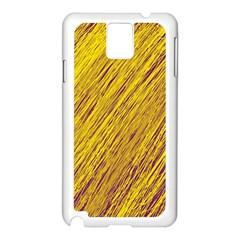 Yellow Van Gogh pattern Samsung Galaxy Note 3 N9005 Case (White)